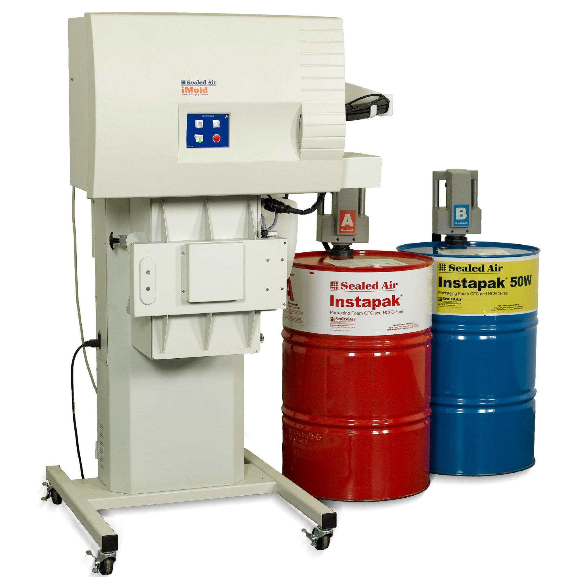 Zařízení iMold (stroj včetně výrobníku tvarovek, použití sudů 210 a 60L)