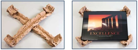 """Papírové výplně technika """"Kříživá do rohů"""""""